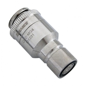 QD2 Quick Disconnect No-Spill Coupling Male, Threaded G 1/4 BSPP[QD2-MSG4]