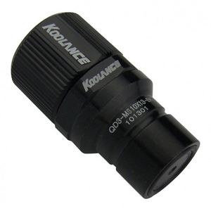 QD3 Male Quick Disconnect No-Spill Coupling, Compression for 10mm x 13mm*Black* [QD3-MS10x13-BK]