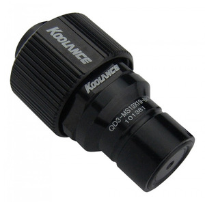 QD3 Male Quick Disconnect No-Spill Coupling, Compression for 13mm x 19mm *Black* [QD3-MS13x19-BK]