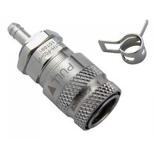 QD1H Female Quick Disconnect No-Spill Coupling, Panel Barb for 03mm (1/8in) [ QD1H-F03-P]